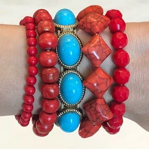 Set of 5 Bracelets! Great for mixing and matching
